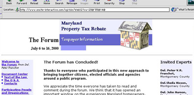MD Tax Forum
